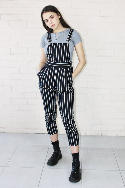 Charlie Pinstripe Overalls