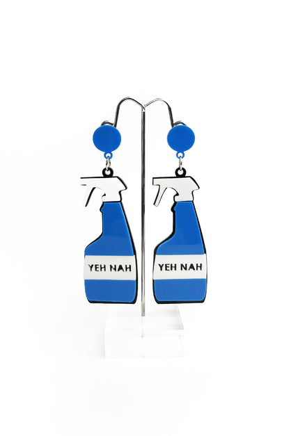 Yeh Nah Earrings Blue Matte