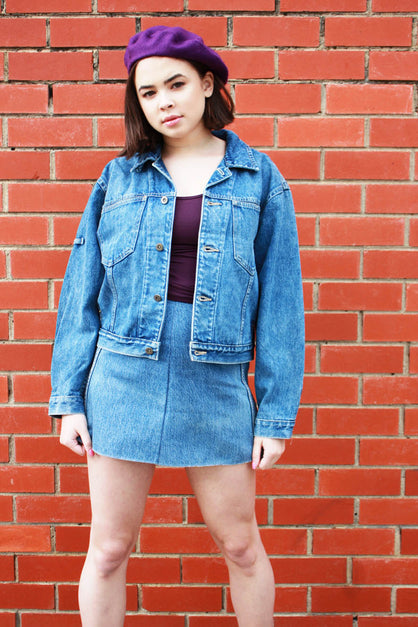 Dog Denim Patch Jacket Blue Wash