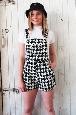 Houndstooth Shortalls