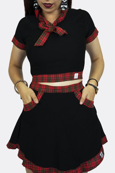 Sailor Moon Skirt Black and Red