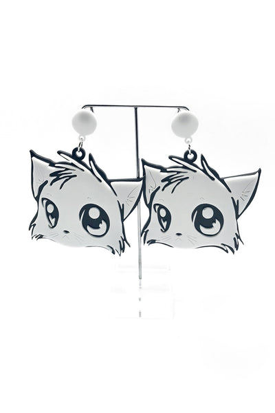 Yuki Kitty Cat Earrings