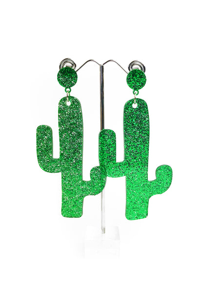 Cactus Glitter Earrings