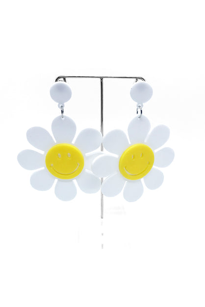 Daisy Smiley Face Earrings