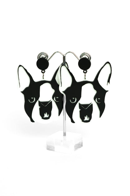 Frankie The French Bulldog Earrings