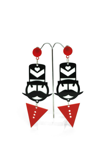 Monopoly Man Earrings