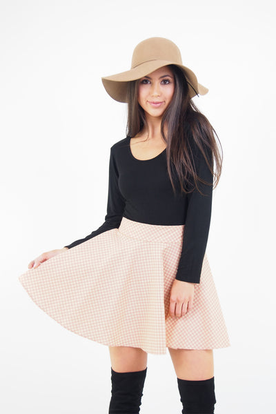 Penny Gingham Thrills Skater Skirt