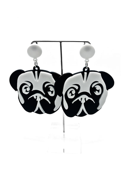 Otis The Pug Dog Earrings