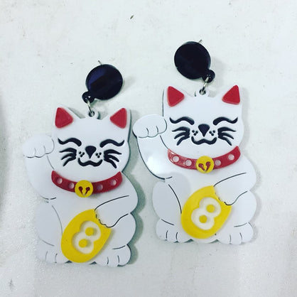 Lucky Money Cat Earrings Pre Order