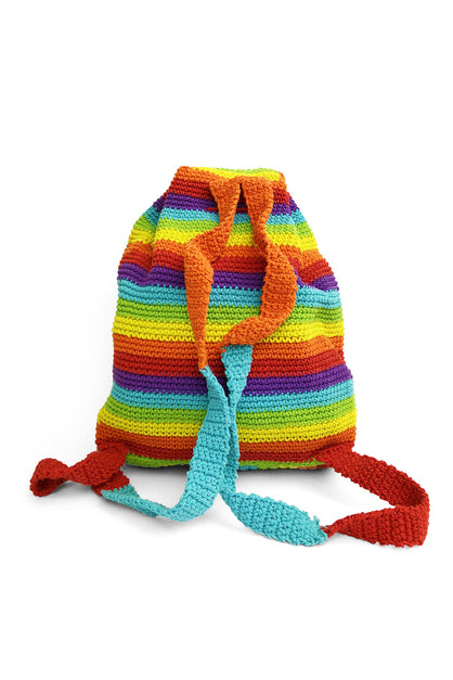 Crochet Pride Rainbow Bag