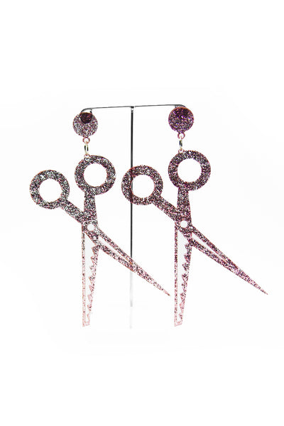 Pink Scissors Earrings