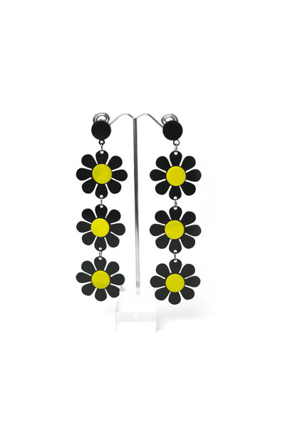 Trio of Daisies Earrings