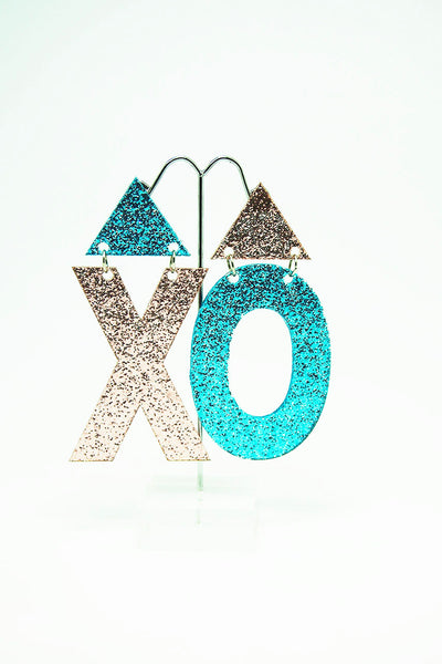 XO Earrings Glitter