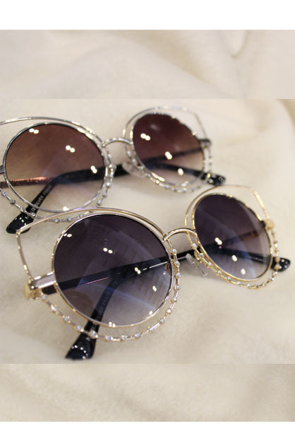 Diamante Cat-Eye Sunglasses
