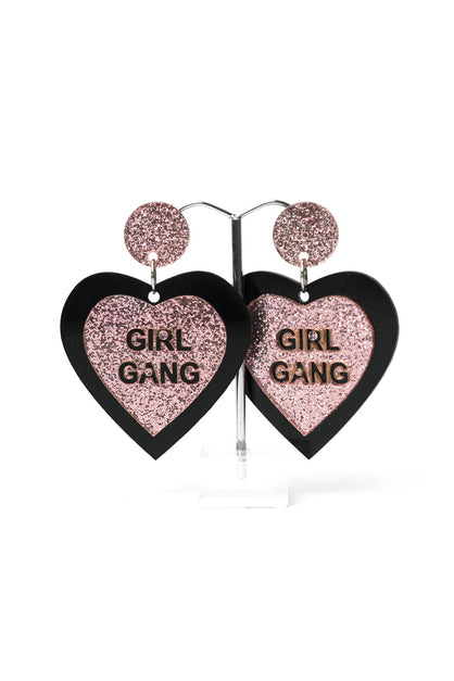 Girl Gang Heart Earrings