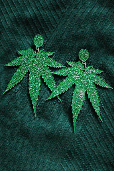 Weed Leaf Earrings