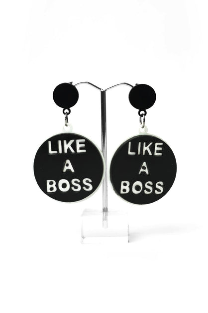 Like A Boss Earrings