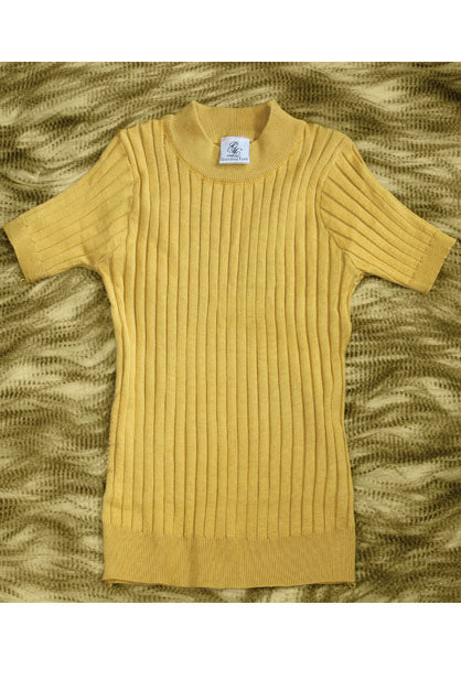 Mustard Ribbed Basic Top