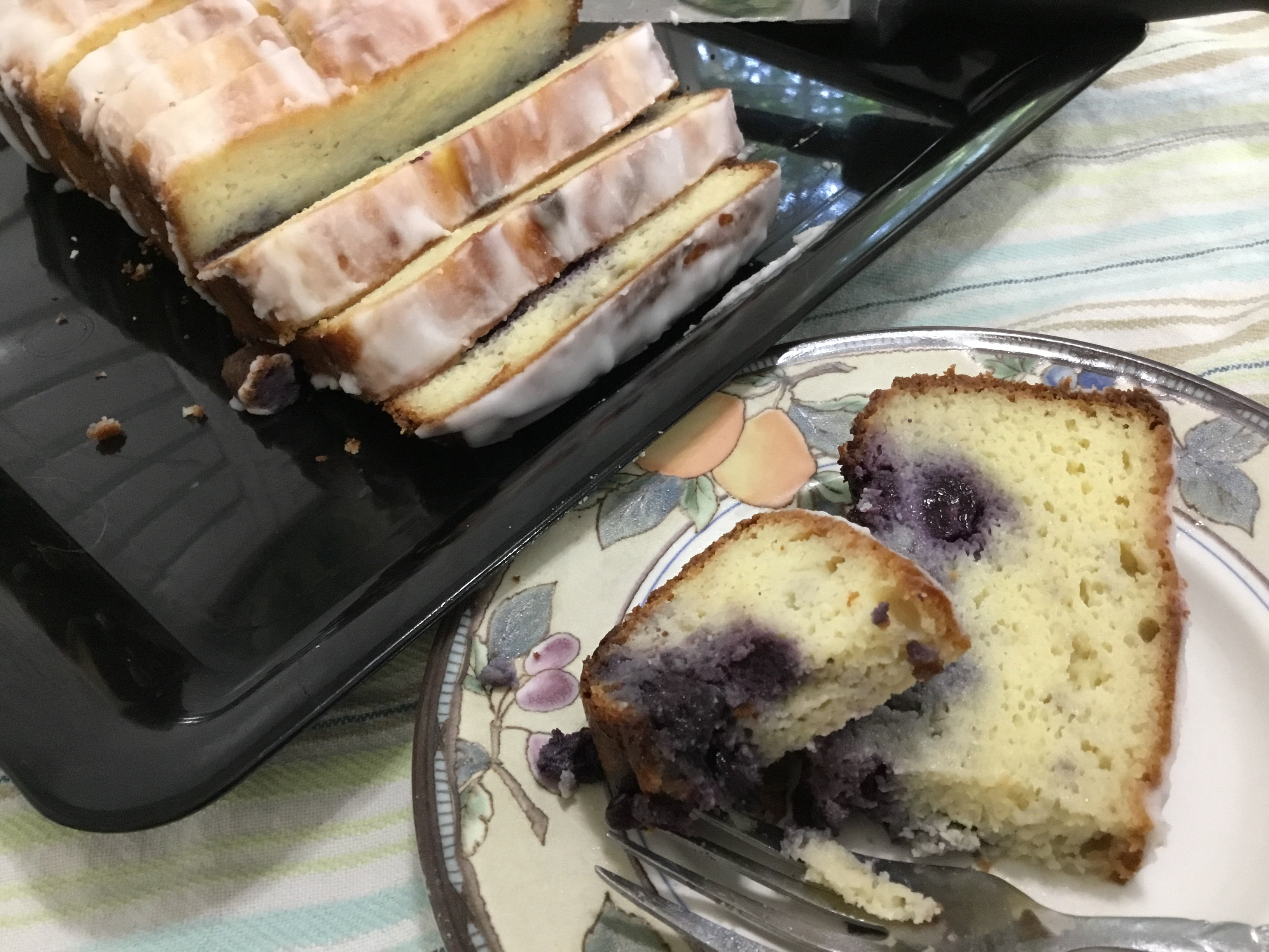 Blueberry Pound Cake with Lemon Glaze