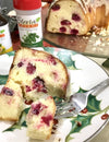 Cranberry Pound Cake with Lemon Glaze