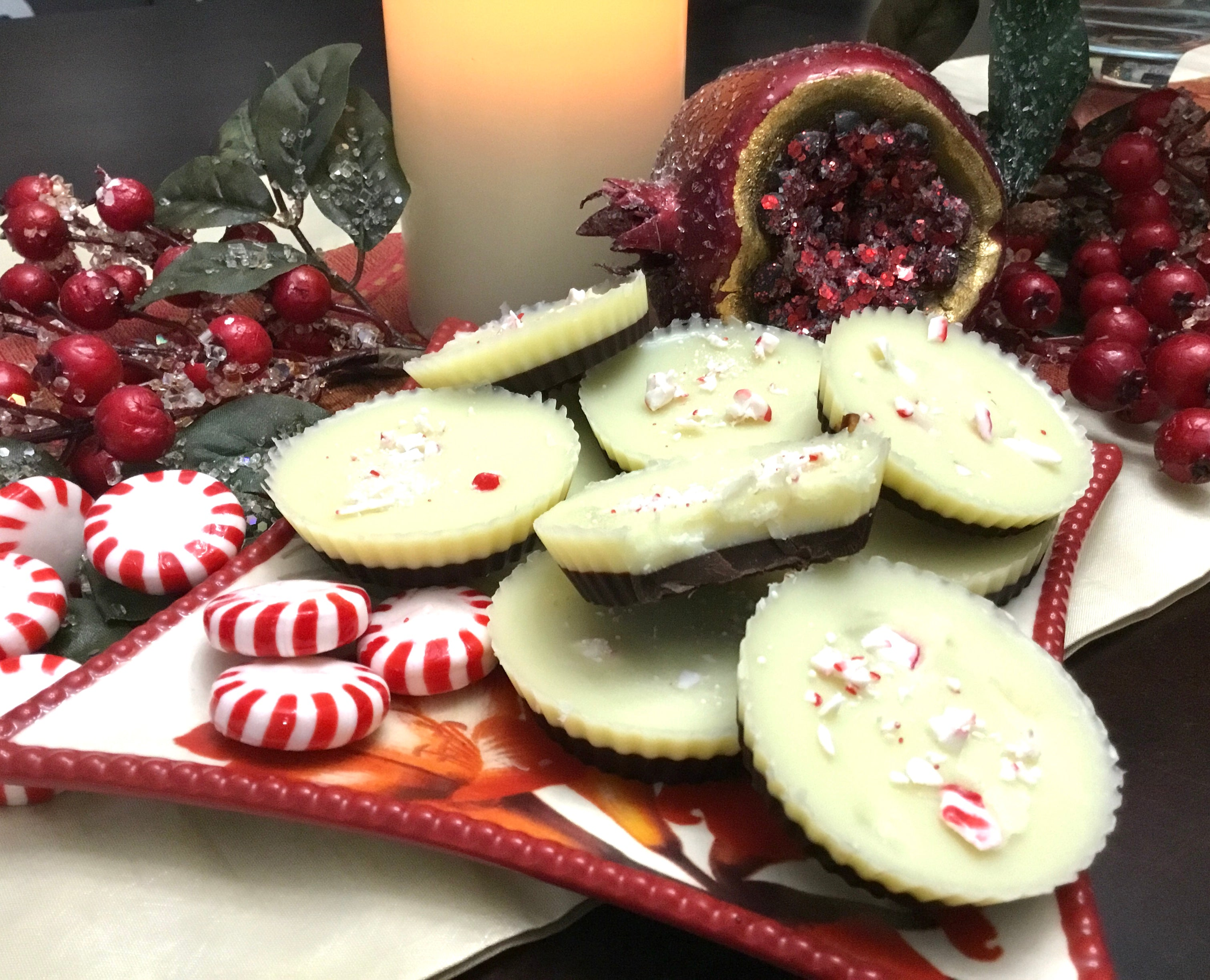 White Chocolate Peppermint Fat Bombs