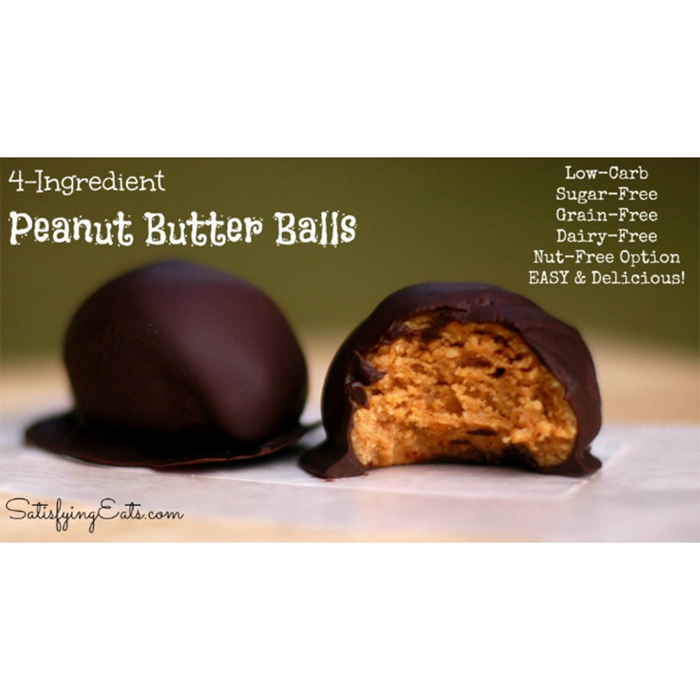 4 INGREDIENT PEANUT BUTTER BALLS