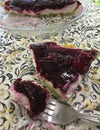 No Bake Triple Berry Cheesecake Pie