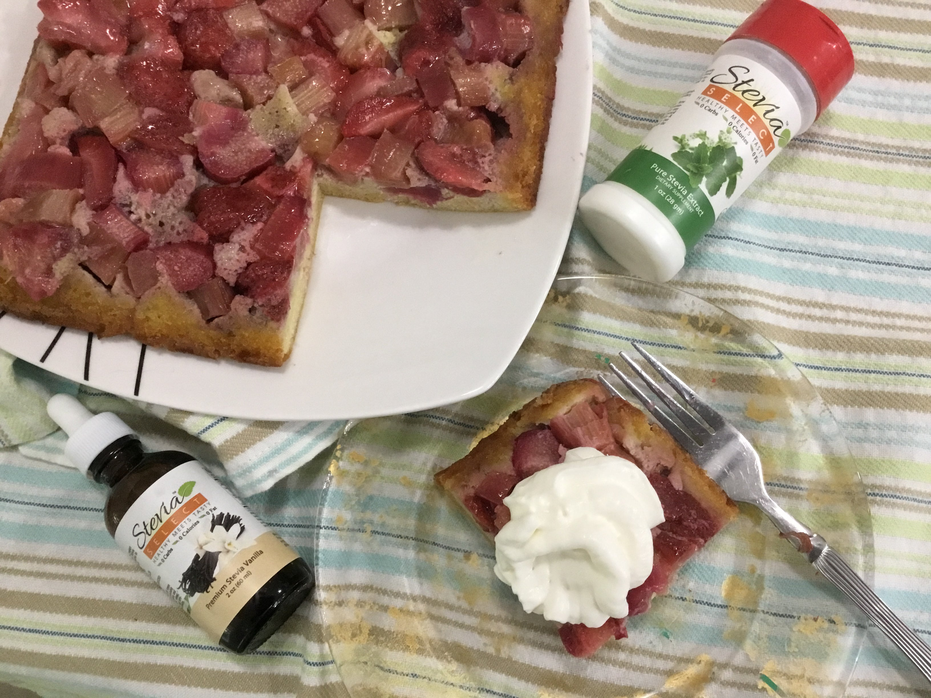 Low Carb Rhubarb Upside Down Cake