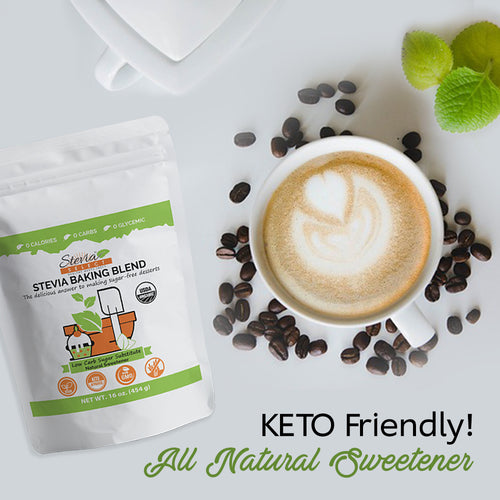 Keto Baking Blend - Stevia Sugar Substitute - Perfect Blend of Sweet Stevia & Erythritol - 1 (16 oz )