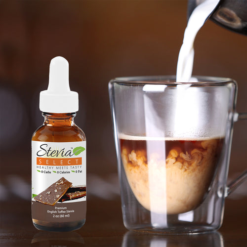 Stevia Liquid  English Toffee Sweet Drops - 2 oz Flavored Stevia