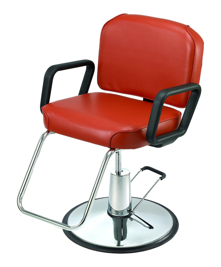 Pibbs Lambada Styling Chair Red 3/4 View