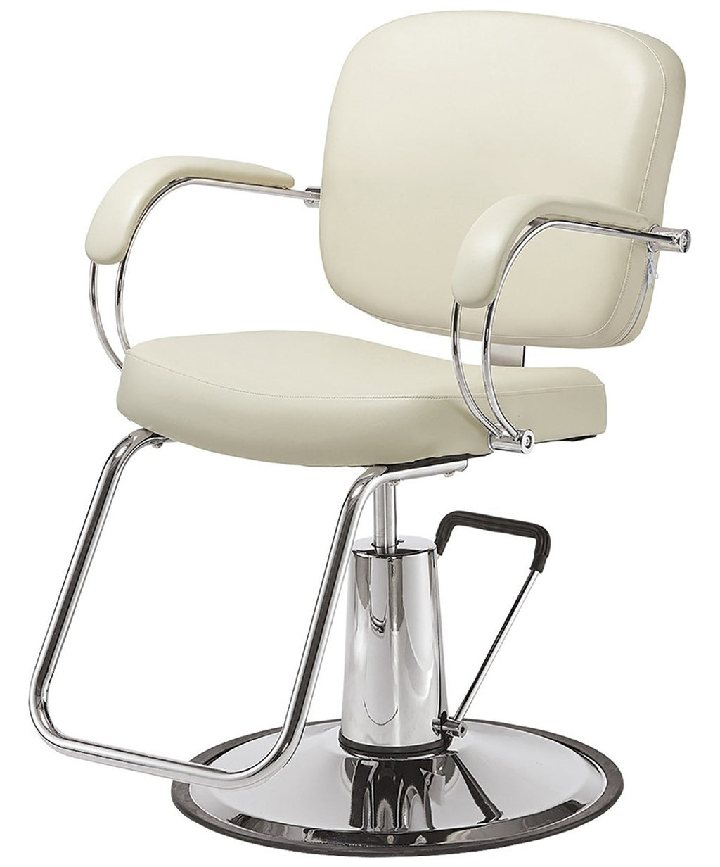 Pibbs Latina Styling Chair White 3/4 View