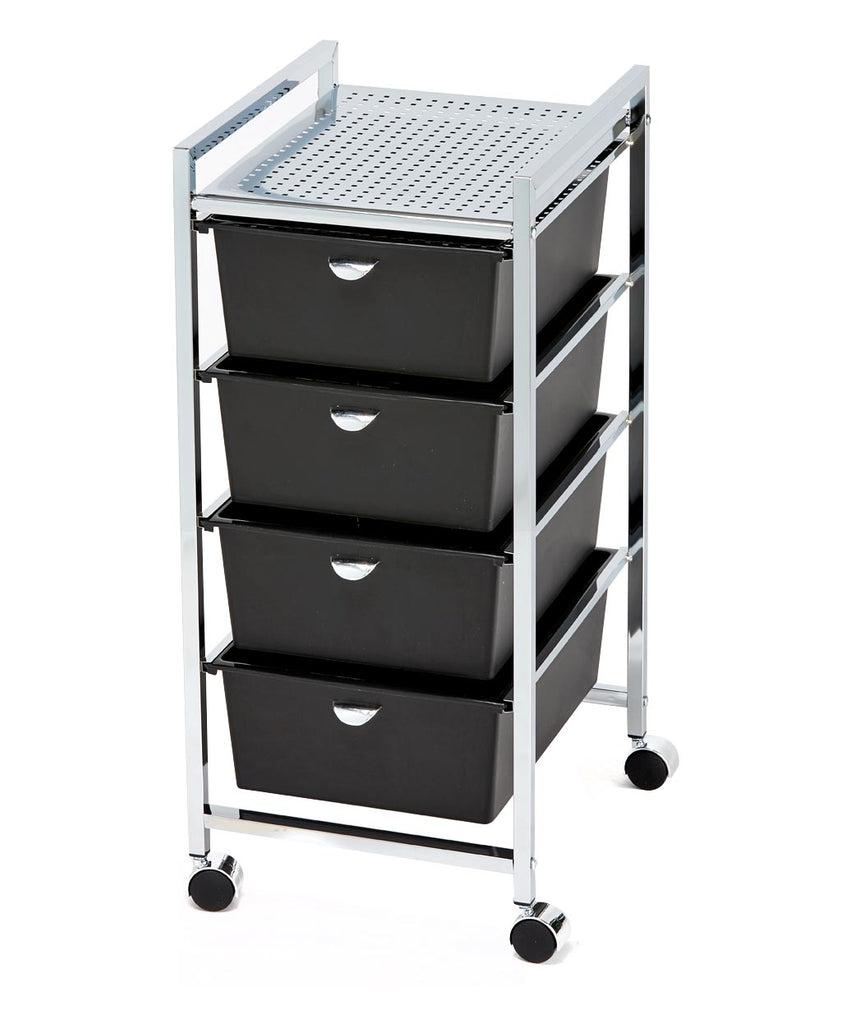 Pibbs D24 4-Drawer Metal Roller Cart