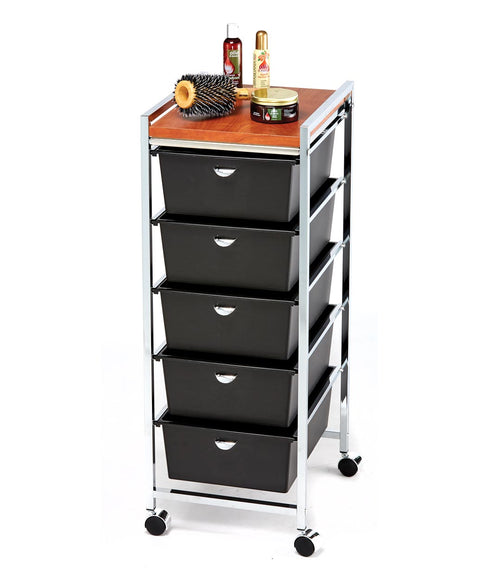 Pibbs D28 5-Drawer Salon Utility Cart