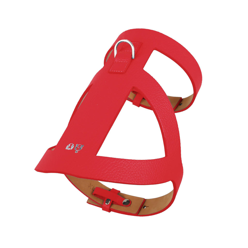 Lucca Dog Harness Red moshiqa-shop