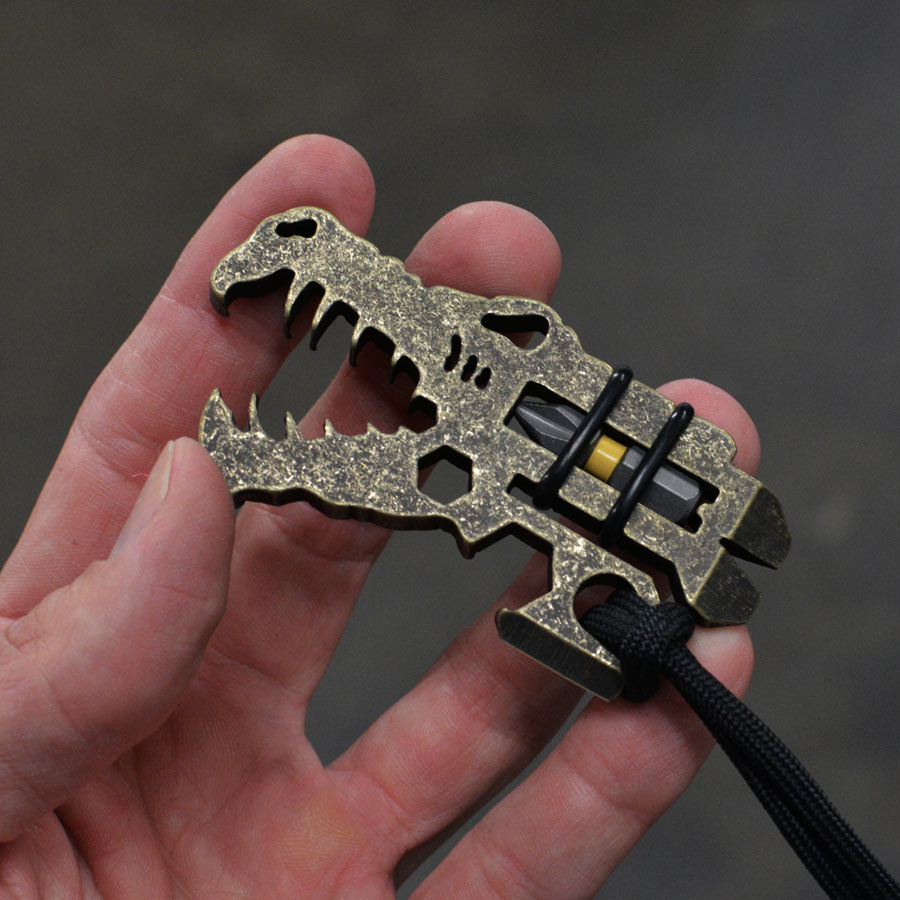 Jurassic Croc - Dark Washed Brass