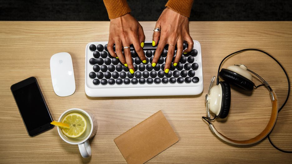 A retro-style Bluetooth keyboard for classic typewriter fans