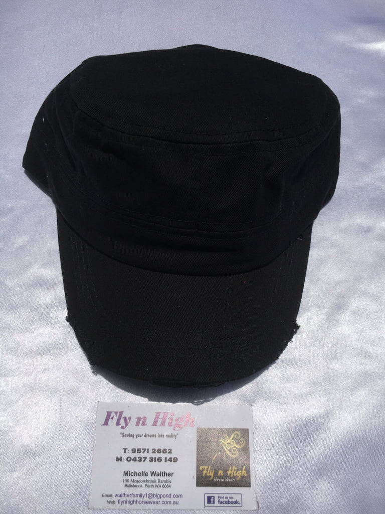 deb70f6e Military Style Torn Cap - navy blue – Fly N High Horse Wear