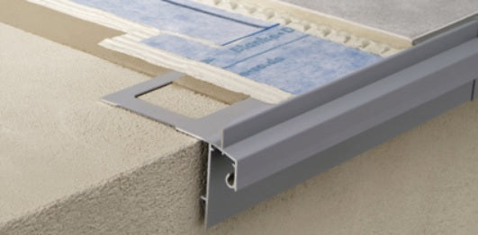 Gutter Edge Protector - Aluminum Medium Grey