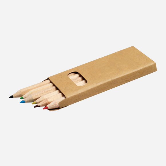 Promotional Branded Short Colour Pencil Set