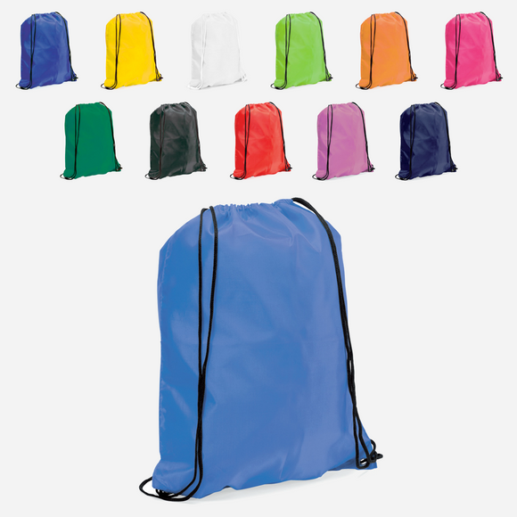 Branded Promotional Nylon Drawstring Bags