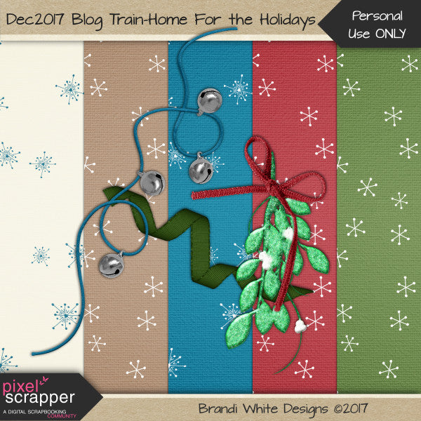 December 2017 Pixel Scrapper Blog Train: Home For the Holidays