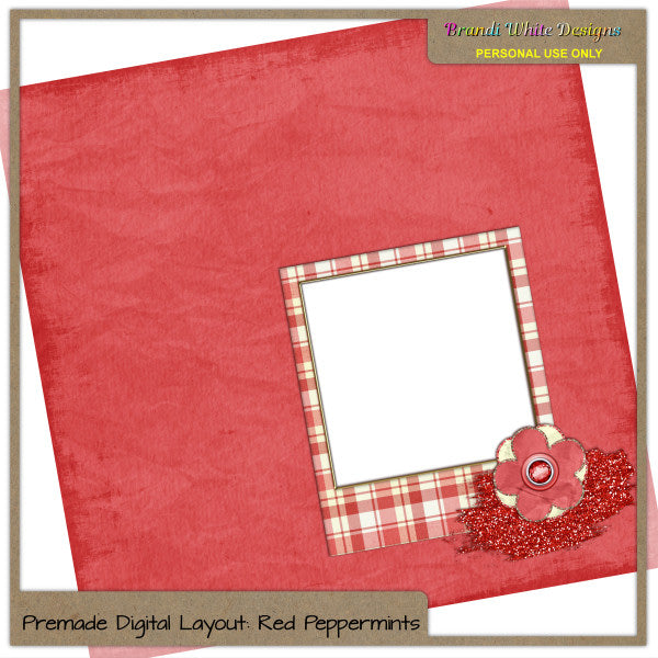 Red Peppermints Quickpage by Brandi White Designs