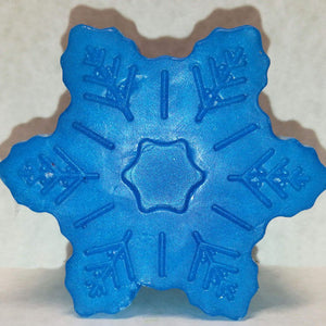 Snowflake Shaped, Tropical Eruption Scented Glycerin-Based Soap