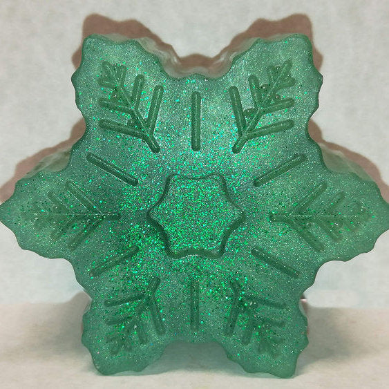 Snowflake Shaped, Eucalyptus-Spearmint Scented Glycerin-Based Soap