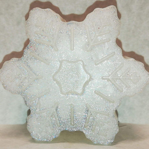 Snowflake Shaped, Peppermint Scented Glycerin-Based Soap