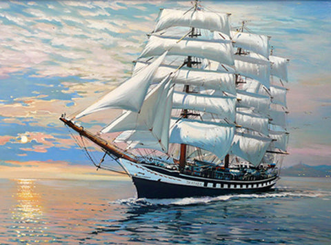 Sail Ship in Good Weather H313