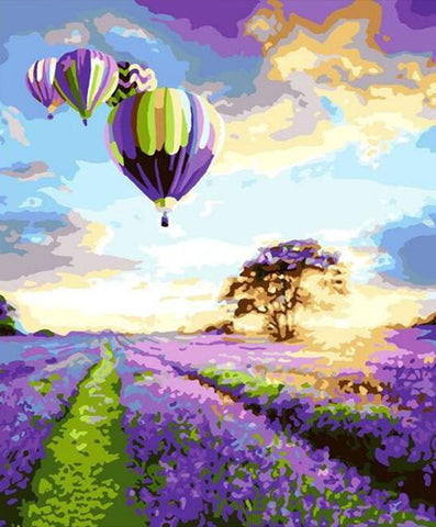 Hot Balloon and Lavender G043
