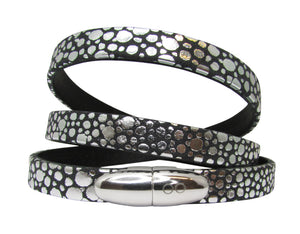 STARDUST WOMAN LEATHER BRACELET