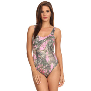 Women's 1-Piece Pink Camo Bikini True Timber Swimwear Made in the USA